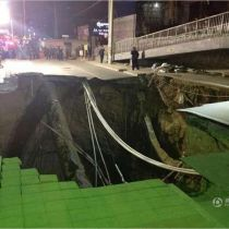 20-meter sinkhole emerges along metro construction route in Beijing