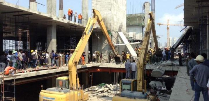 Many Feared Dead After Construction Site Collapse in Jakarta