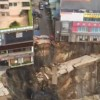 Subway construction site in Dongguan collapses into massive sinkhole