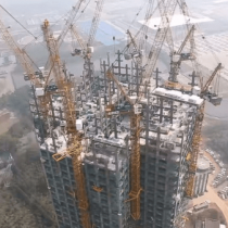 China builds complete 57 story skyscraper in record 19 days