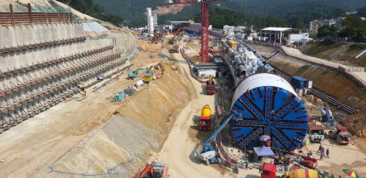 Largest EPB TBM arrives in Hong Kong to tunnel new route to China