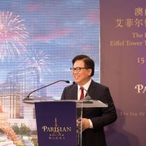 The Parisian Macao's Iconic Eiffel Tower Tops Out