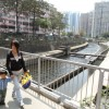 Construction works at Kai Tak River to improve flood safety
