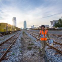 Cambodian, Thai railway line on track