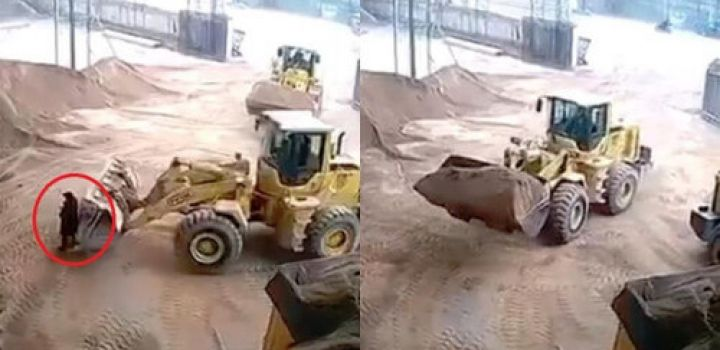 (Video) Chinese woman dies after being dumped by loader into sand crusher