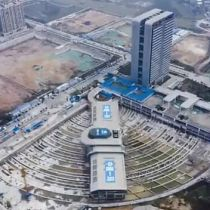 30,000-ton bus terminal moved horizontally in Xiamen, China