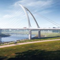 schlaich bergermann partner wins competition for two bridges in Chengdu, China
