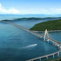 China State completes contracted section of giant cross-sea bridge in Brunei