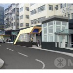 One of the future entrances to Ma Tau Wai Station on  the Shatin to Central Link (source: MTRC)