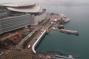 Build King, through its subsidiary Leader Civil, is currently working on the Central-Wanchai Bypass at the Hong Kong Conference and Exhibition Centre with joint venture partner Chun Wo as shown this  photo dated January 2013 (Civil Engineering and Development Department)