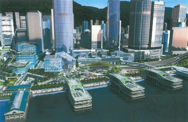Artist's impression of Central Piers 4, 5 and 6 upon completion of redevelopment  (Town Planning Board)