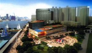 Artist's impression of the Shangri-La hotel at Hung Hom on completion  (Town Planning Board)
