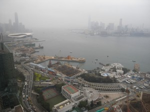 Reclamation for Central-Wanchai Bypass under construction in February 2013   (Danny Chung)