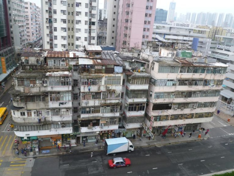 View of the existing housing block in Sham Shui Po targetted for redevelopment  (Urban Renewal Authority)