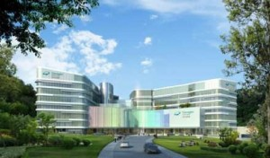 An artist's impression of the proposed private hospital at Wong Chuk Hang  (NWS Holdings)