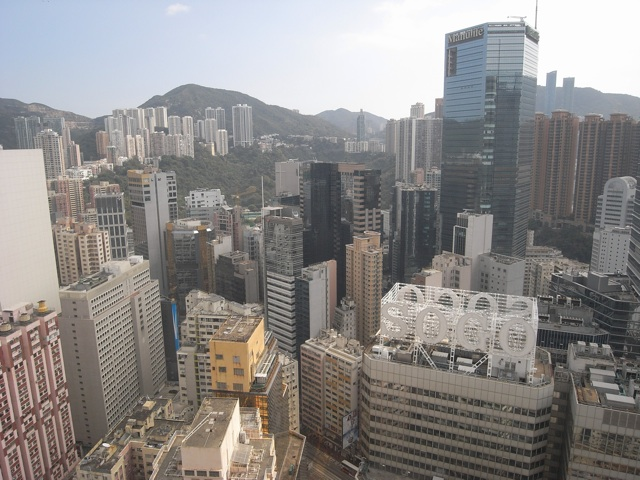 Causeway Bay from above. Prices for office property increased by 21 percent in 2012  (Danny Chung)