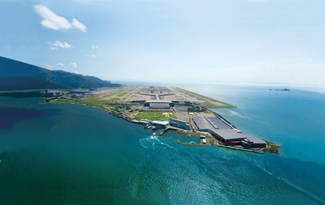 The third runway of Hong Kong International Airport, to be built on the northern side of the airport island shown here, is estimated to cost HK$136.2 billion at money-of-the-day prices  (Airport Authority Hong Kong)