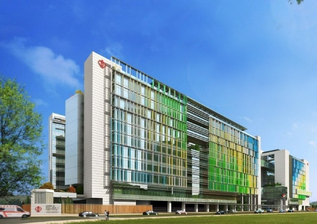 The Centre of Excellence for Paediatrics will be the first dedicated children's hospital in the public sector on completion in June 2017.  (Architectural Services Department - HKSAR Government)