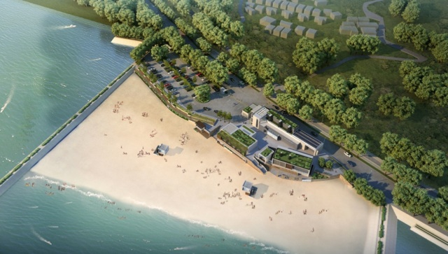 Environmentalists upset over the proposed artificial beach at Lung Mei in Tai Po have threatened a judicial review should the project be awarded  (Architectural Services Department - HKSAR Government)