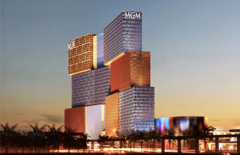 On completion in 2016, MGM China's Cotai project will feature 1,600 hotel rooms, 2,500 slots and up to 500 gaming tables. (MGM China)