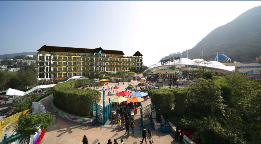 Ocean Park's first hotel Ocean Hotel is scheduled for completion in 2016.  (Ocean Park)
