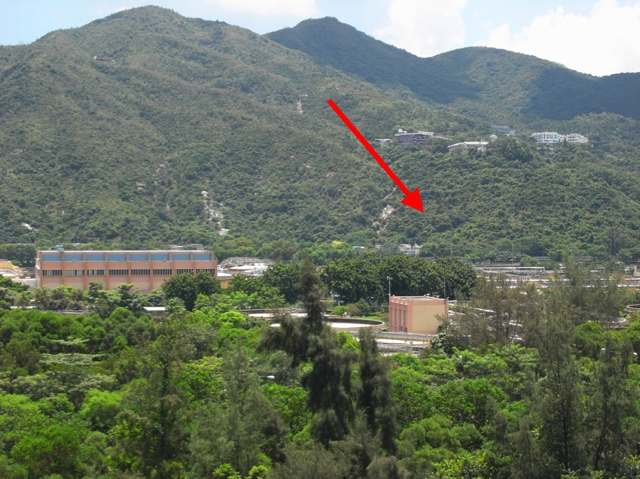 The government is proposing to move Sha Tin Sewage Treatment Works to A Kung Kok nearby (see arrow)   (Danny Chung)