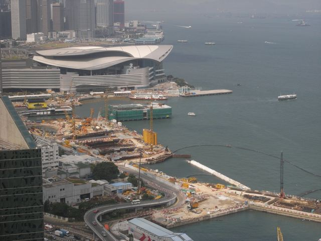 Chun Wo-China Railway Group Joint Venture is in charge of construction of the Central-Wan Chai Bypass east of the Hong Kong Convention and Exhibition Centre  (Danny Chung)