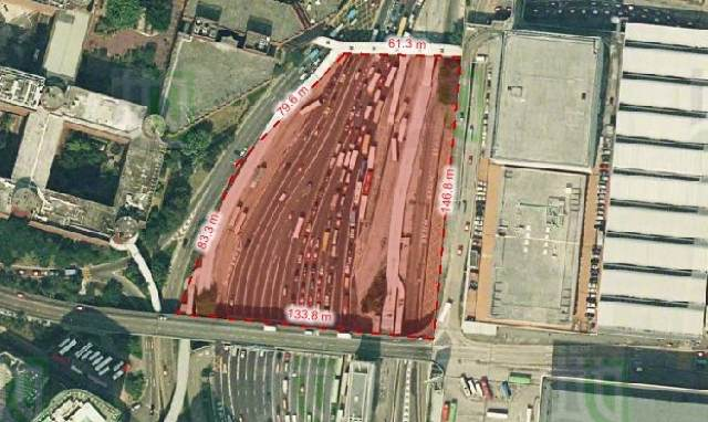 No details are available yet but assuming the plaza area between the two footbridges is covered by a green deck, the area involved would be 15,218 square metres as measured by the government's GeoInfo Map website and as shown in this picture  (HKSAR Government)