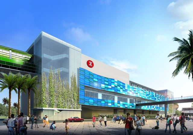 The external elevations of Ocean Park Station will feature contoured glass panels of different colours to echo the ocean theme  (MTR Corporation)