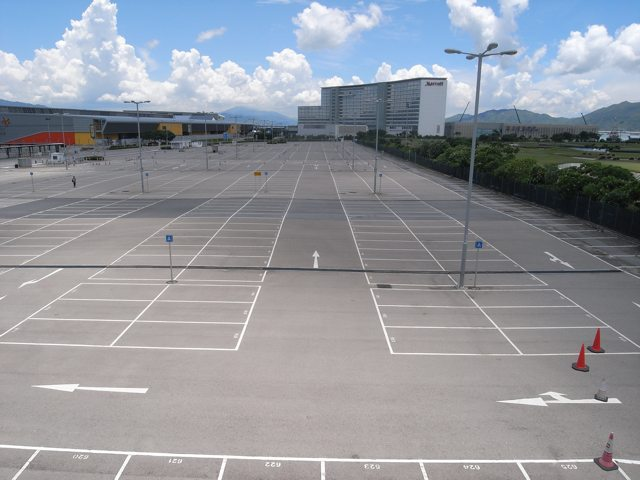 A third hotel will be built at this carpark adjacent to the AsiaWorld Expo  (Danny Chung)