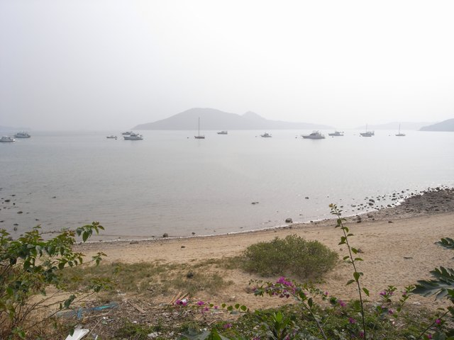 A beach next to a barbecue site at Lung Mei in Tai Po. The Civil Engineering and Development Department says it has suspended work to build an artificial beach at this location  (Danny Chung)