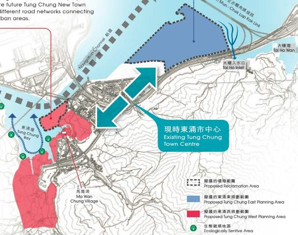 Preliminary assessment of comments received during Stage 2 Public Engagement show the public still has reservations on reclamation at Tung Chung West  (HKSAR Government)