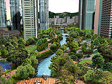 An artists impression of the Kai Tak River