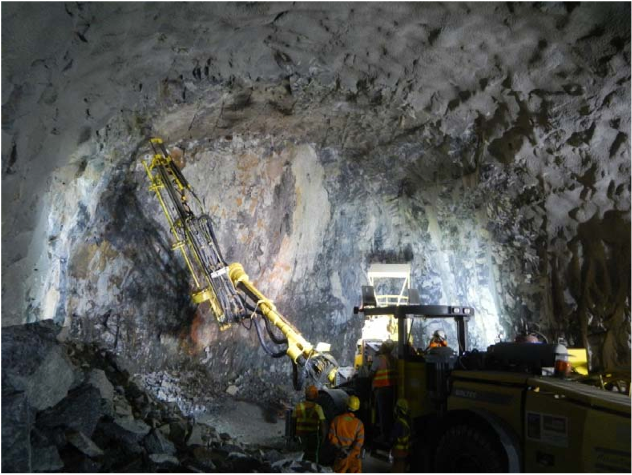 The total of 750 blasts w ere carried out with 500 tonnes of explosives detonated, producing approximately 280,000 cubic metres of excavated material during the drill-and- blast excavation of Nam Fung Tunnel.