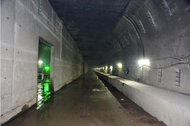 About 80 percent of the tunnel lining works in side Nam Fung Tunnel has been completed.