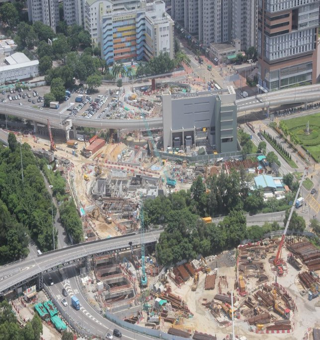 Cut and Cover Tunnel Construction at Yau Ma Tei