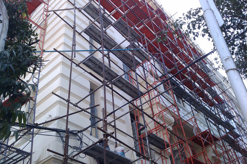Many of Yangon's old colonial buildings are in the process of being refurbished. Photo Credit: Construction-Post