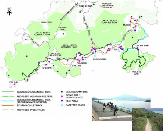 Proposed Cycle Track and Mountain Bike Trail Network in South Lantau